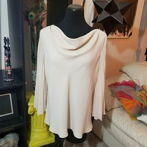 Tops - Candlelight & Champagne Butterfly Sleeve Top sz XL